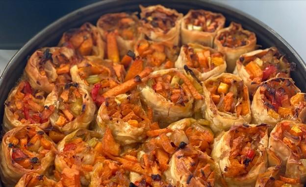 מאפה ירקות - פאני דוד (צילום: פאני דוד, אוכל טוב)