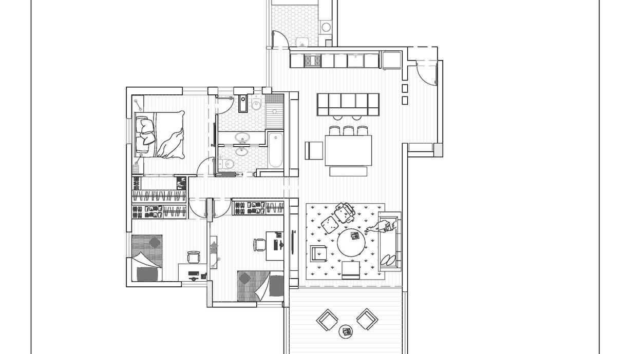 דירה ברמת אביב, עיצוב נילי סובוטקה, תוכנית אחרי השיפוץ