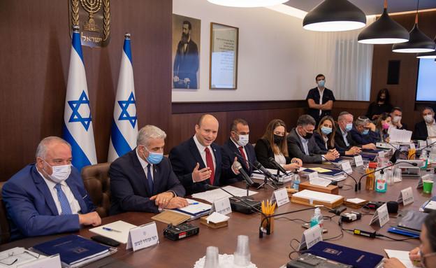ישיבת ממשלה בראשות נפתלי בנט (צילום: אמיל סלמן)