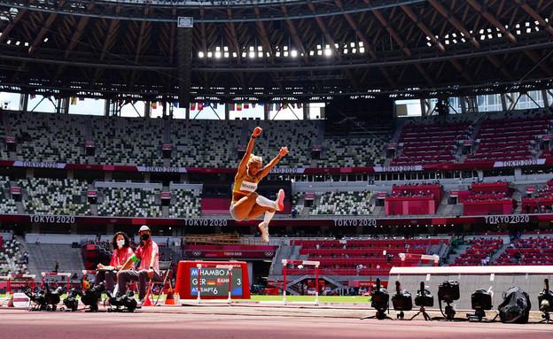 הגרמניה מלייקה מיאמבו מנצחת וזוכה במקום הראשון (צילום: reuters)