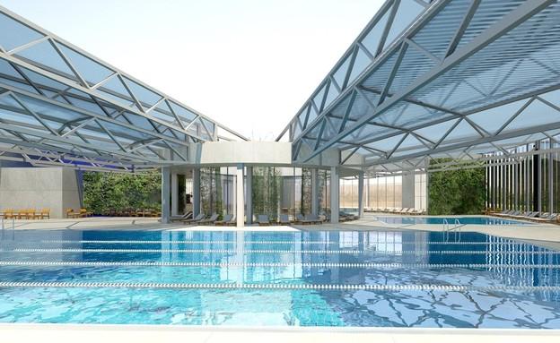 הבריכה האולימפית שתוקם בבני ברק (צילום: שירה לביא וטוטם פרוייקטים)