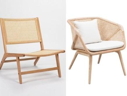 זול יקר, כורסאות (צילום: מימין: יחצ, משמאל: Marvin Chicheportiche)