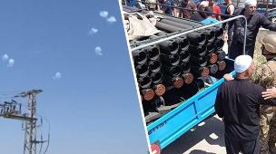המשאית שממנה חיזבאללה 19 רקטות לצפון