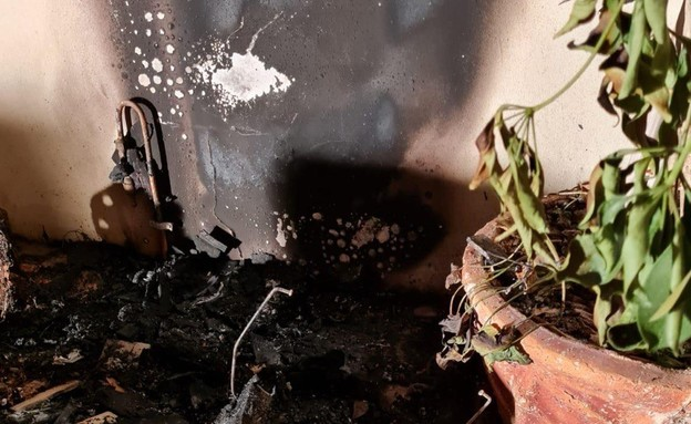 שריפה פרצה בבית מגורים בישוב במועצה אזורית אשכול (צילום: noon)