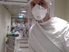 מתמחה במחלקת קורונה (צילום: חדשות 12)