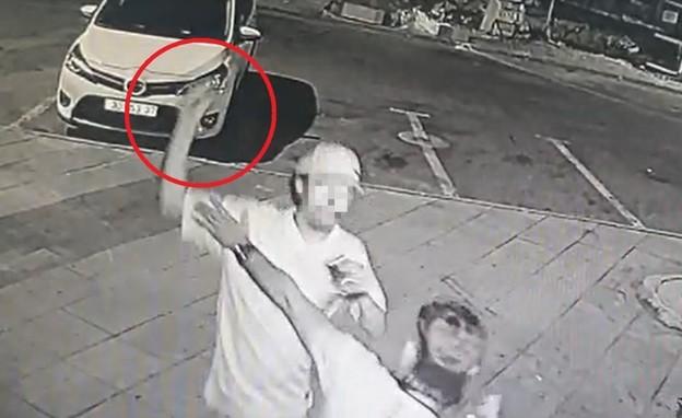 אלימות ברחובות קרית גת (צילום: פרטי)