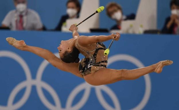 לינוי אשרם בתרגיל האלות (צילום: עמית שיסל הוועד האולימפי)