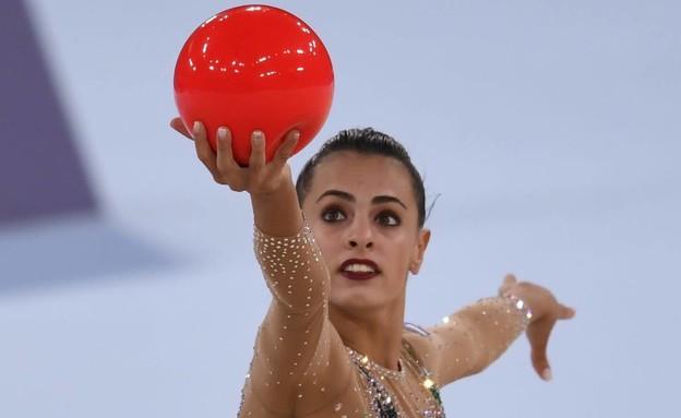 לינוי אשרם בתרגיל הכדור (צילום: עמית שיסל, הוועד האולימפי בישראל)