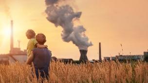 התחממות גלובלית, אבא ובן (צילום: Soloviova Liudmyla)