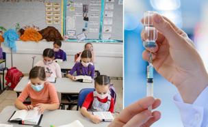 חיסונים בבית הספר (עיבוד: פלאש 90)