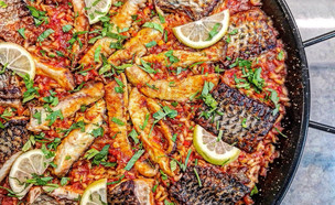 פאייה ספרדית עם דג אמנון (צילום: קובי אדרי)