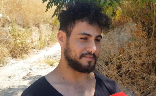 """צח חבר של הנרצח בשלומי :""""רצה להתגייס רצה להיות קרב (צילום: החדשות 12)"""