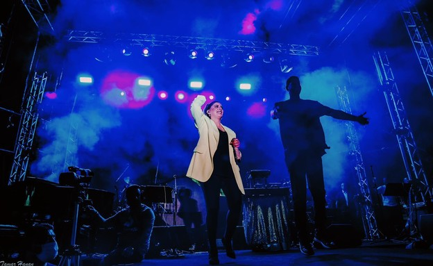 שרית חדד בזאפה פארק הירקון (צילום: תמר חנן)