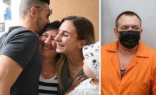 משפחתו רומן זדורוב מתרגשת לקראת שחרורו למעצר בית (צילום: פלאש 90)