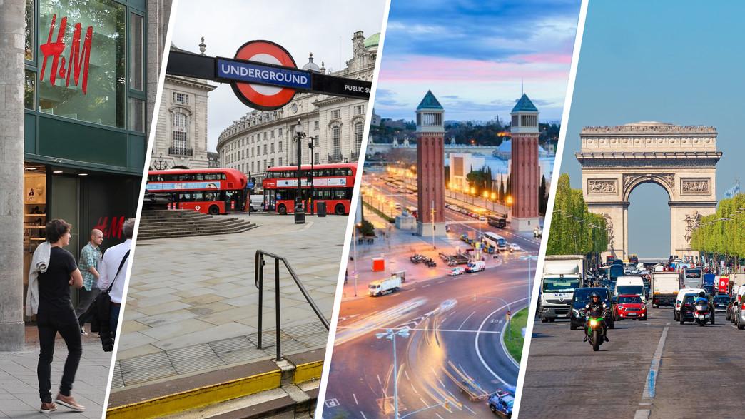 פריז, ברצלונה, לונדון וברלין (צילום: shutterstock)