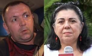 אילנה ראדה ורומן זדורוב (צילום: חדשות 12)