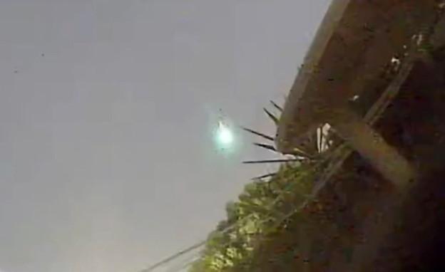 מטאור בשמי רמת גן (צילום: שלומי עיני)
