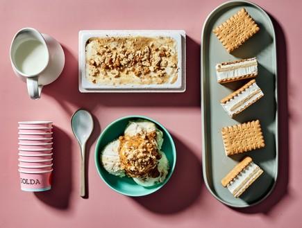 גולדה - גלידת עוגת ביסקוויטים (צילום: מיי סושיאל, יחסי ציבור)