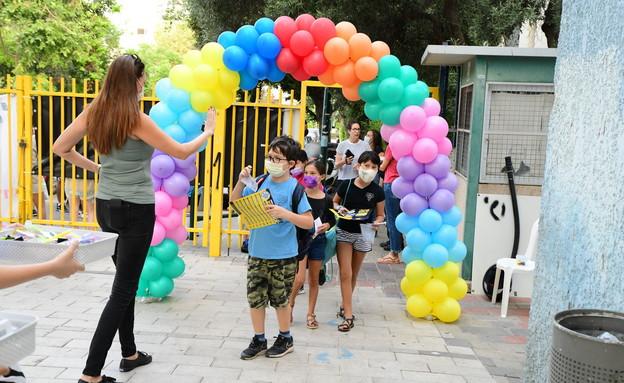 פתיחת שנת הלימודים בצל הקורונה (צילום: אבשלום ששוני, פלאש 90)