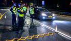 מחסום משטרתי (צילום: נתי שוחט, פלאש 90)