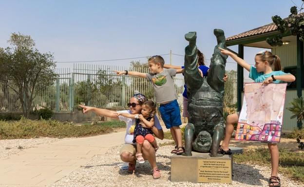 """אירועי סוכות בצריף בן גוריון (צילום: צביקה שמעיה, יח""""צ)"""