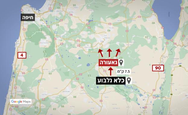 מפת כלא גלבוע (אילוסטרציה: החדשות 12, N12)