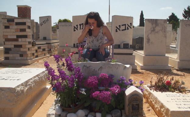 לירון דרור, שבתה נרצחה לפני שנה וחצי על ידי אביה ב (צילום: החדשות 12)