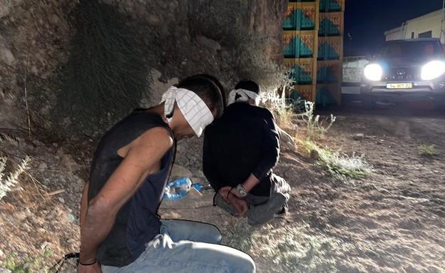 זכריה זביידי ואסיר נוסף נלכדו בצפון הארץ (צילום: משטרת ישראל)
