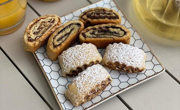 עוגיות מגולגלות של יונית צוקרמן (צילום: יונית סולטן צוקרמן)