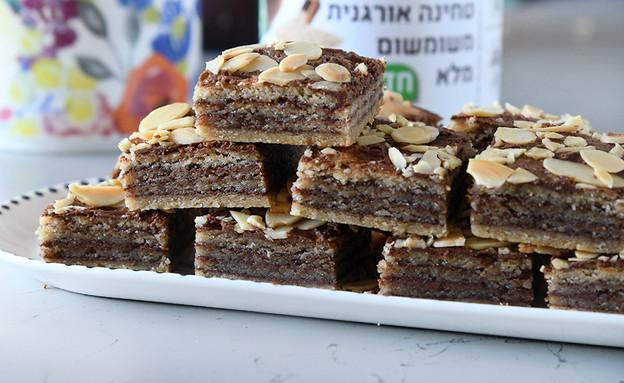 חיתוכיות טחינה ושוקולד של רחלי קרוט (צילום: רחלי קרוט)