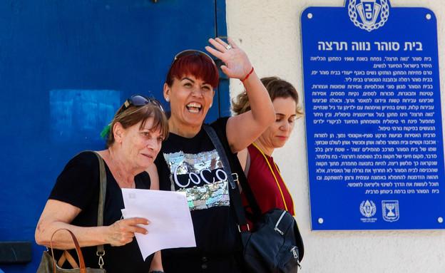 דלאל דאוד בשחרורה מכלא נווה תרצה (צילום: פלאש 90)