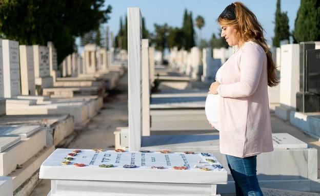 דניאלה יקיר בצילומי ההיריון (צילום: אפרת אריאל-כהן, באדיבות המצולמת)