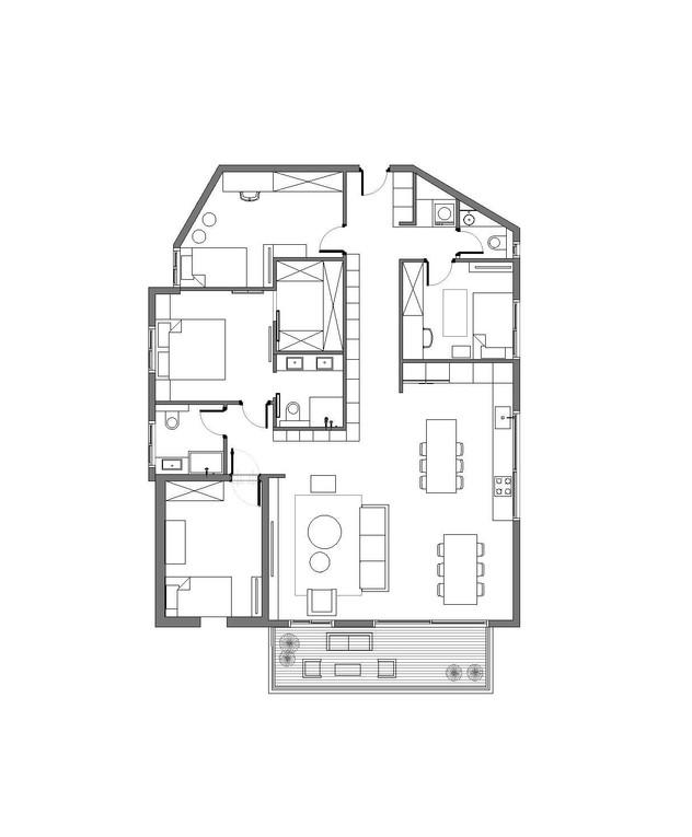 דירה בחיפה, עיצוב רותם שייקר, ג, תוכנית אדריכלית