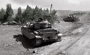 טנקים ברמת הגולן במלחמת יום כיפור (צילום: משרד הביטחון)