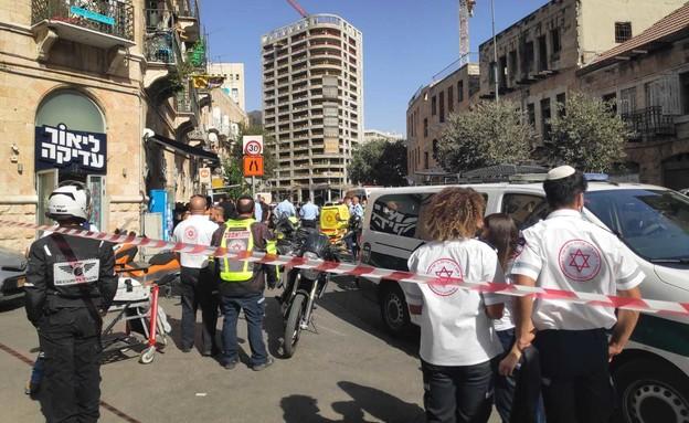 פיגוע דקירה בירושלים (צילום: אביב הרץ/TPS)