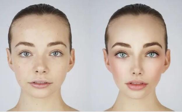 תמונות הריטוש לפני ואחרי (צילום: @Fashionista_com)