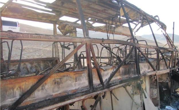 האוטובוס שהותקף ב-2011 (צילום: Israel Defense Forces)