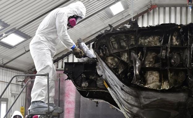שרידי המטוס שישמשו לאימונים (צילום: U.S. Air Force photo by Todd Cromar)