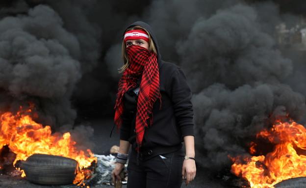הפגנות בלבנון (צילום: reuters)