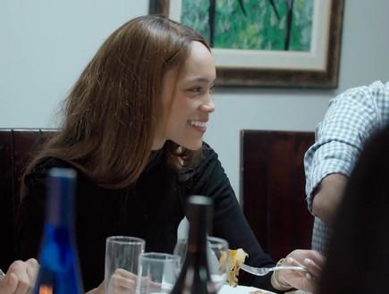"""הדס מגיעה לראשונה לארוחת שישי אצל שי (צילום: מתוך """"חתונה ממבט ראשון"""", קשת 12)"""