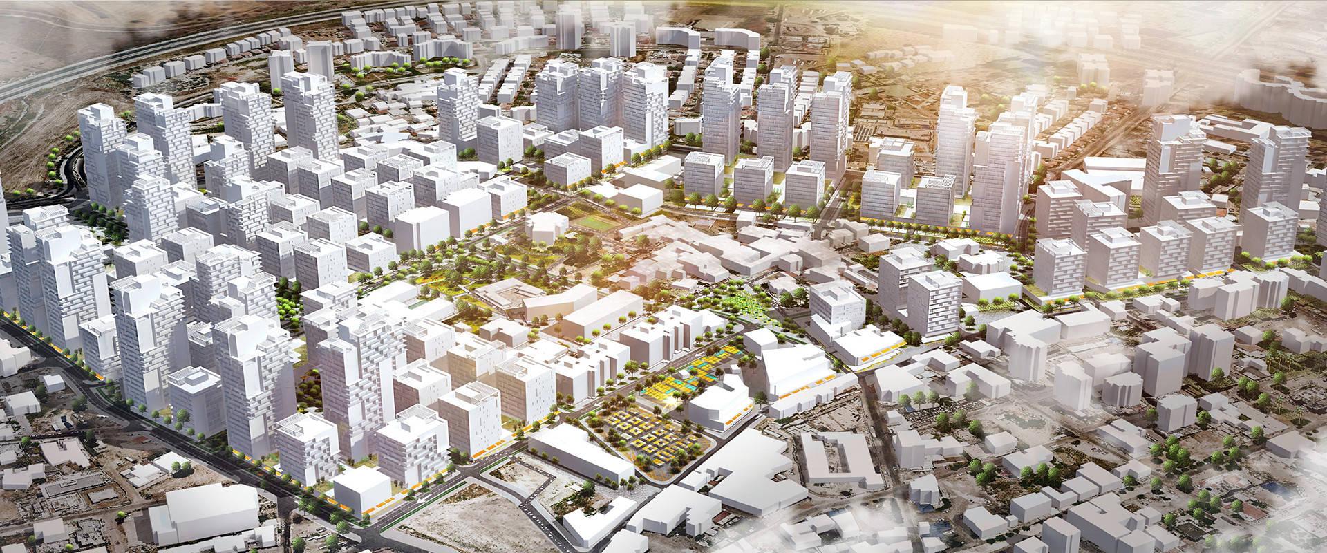 כך ייראו השכונות החדשות בישראל (צילום: רשות מקרקעי ישראל)