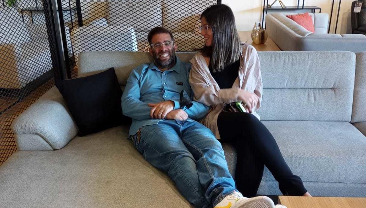 אורן חזן ואשתו אחרי שהחלימו