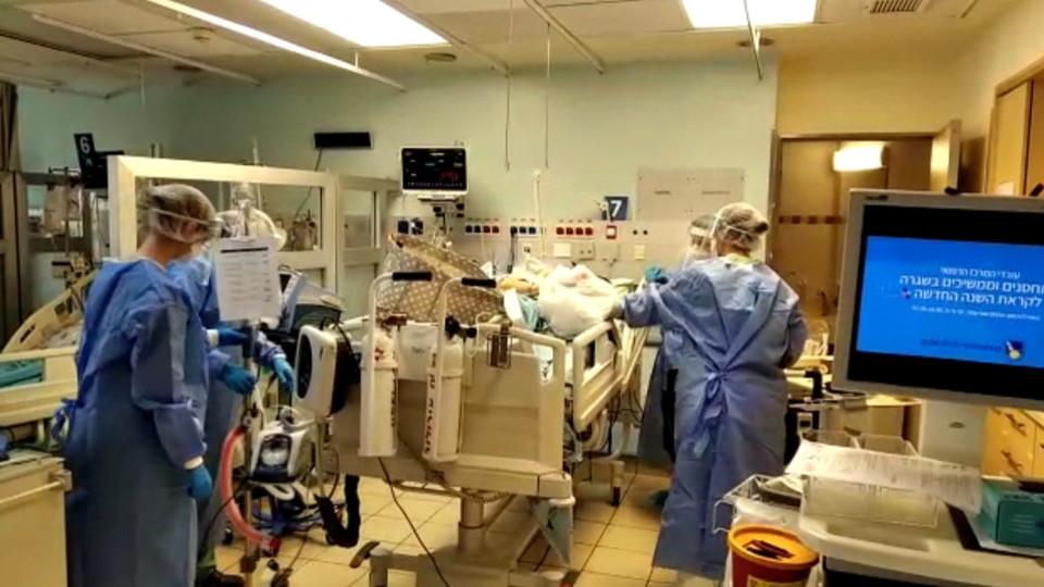 עומס מטופלים במחלקות הקורונה (צילום: חדשות 12)