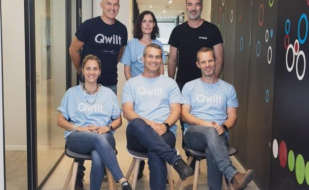 צוות Qwilt (צילום: ברצי גולדבלט)