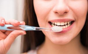 צחצוח שיניים (צילום: Shutterstock/VGstockstudio)