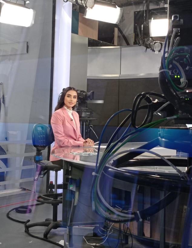 מגי טביבי בערוץ 20 (צילום: פרטי)
