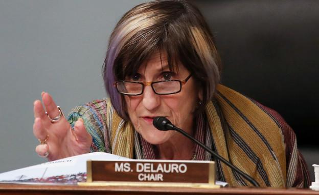 חברת הקונגרס הדמוקרטית לורה דילורו (צילום: טאסוס קטופודיס, רויטרס)