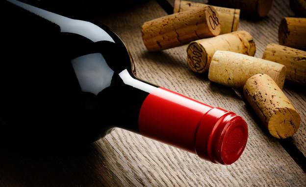 בקבוק יין, פקק שעם (צילום:  symbiot, Shutterstock)