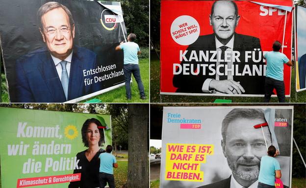 שלטי חוצות בבחירות בבון - גרמניה (צילום: reuters)