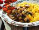 פולנטה של תירס טרי עם פטריות צלויות (צילום: דן לב, על השולחן)